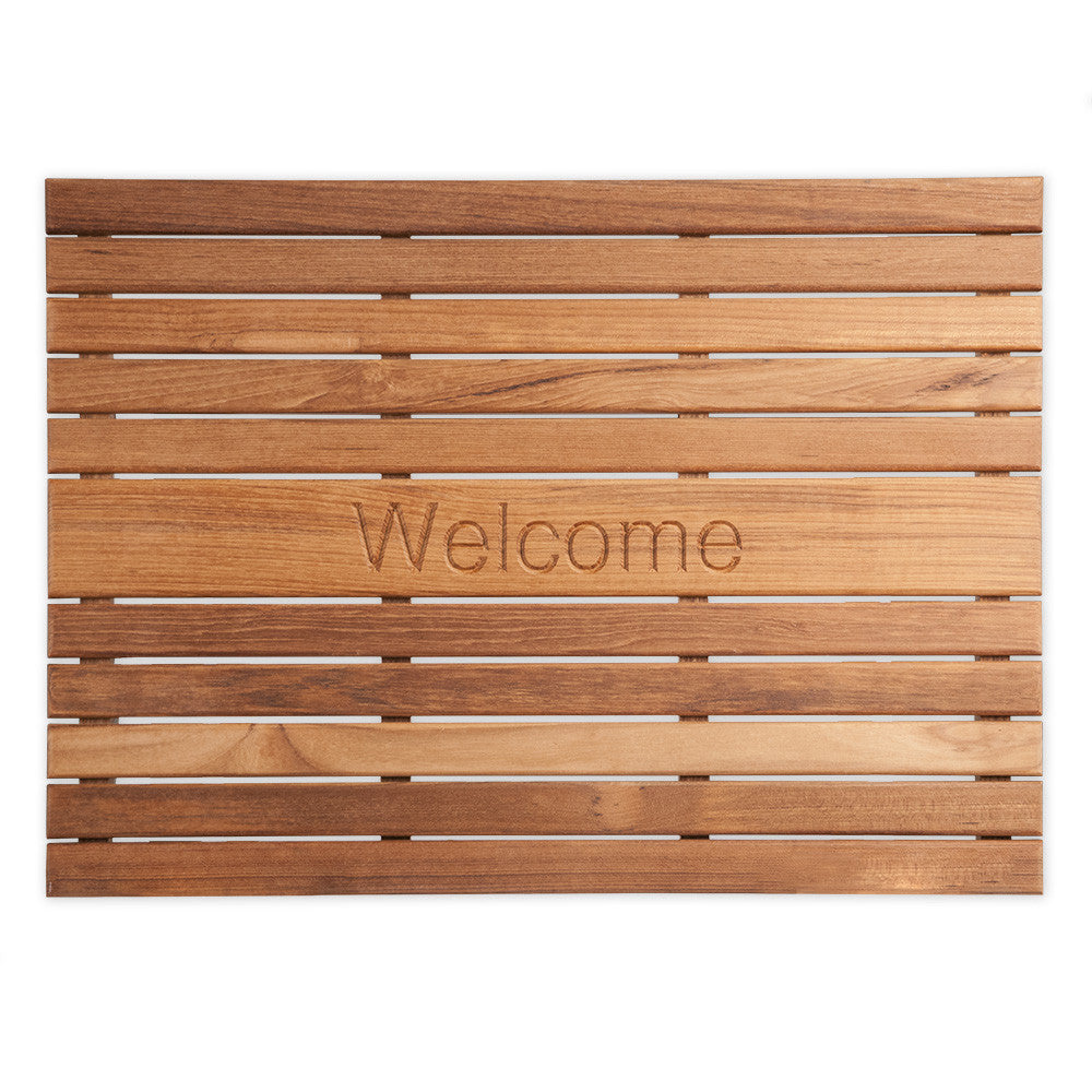 "Teak 25"" x 18"" Welcome Mat"
