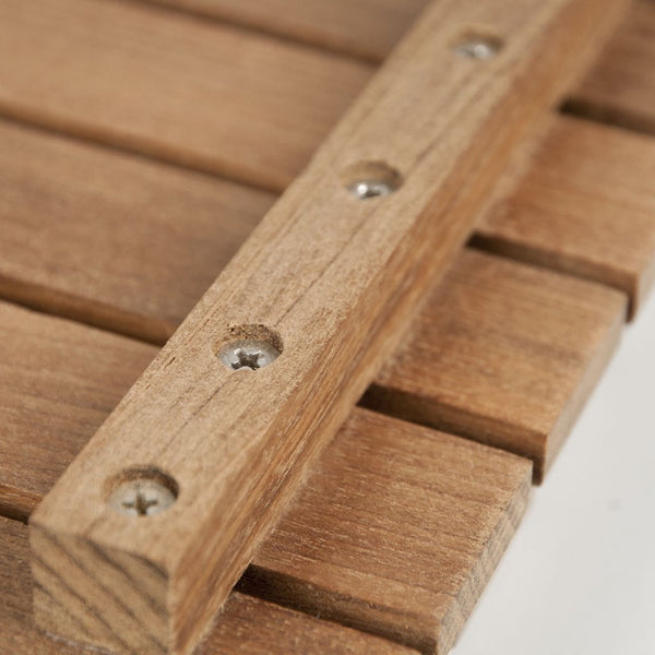 "30"" x 30"" Teak Bath or Shower Mat with Rounded Corners"