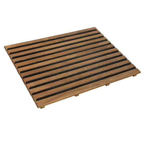 "25"" x 19"" Teak Door Mat with Scrubbers by Teakworks4u"