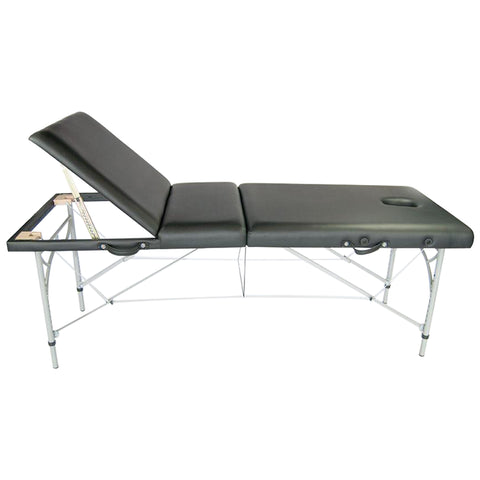 Portable Massage Bed w/ Reclining Backrest