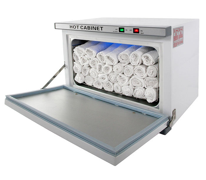 24 Piece Hot Towel Cabinet W Uv Sterilizer Topspasupply Com