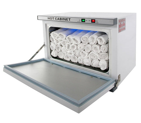 24 PIECE HOT TOWEL CABINET WITH STERILIZER - TopSpaSupply.com