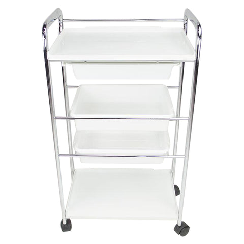 4 Level Plastic Rolling Trolley Cart
