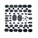 60 PIECE KIT BASALT LAVA HOT STONE MASSAGE