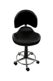Black Designer Spa Stool with Footrest