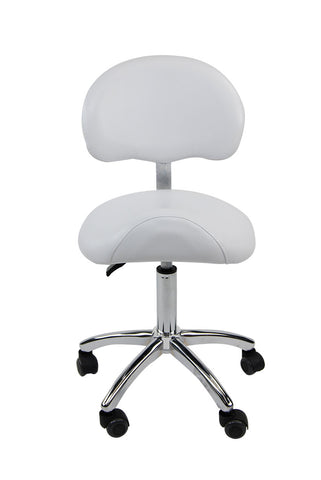 Hydraulic Saddle Stool With Back