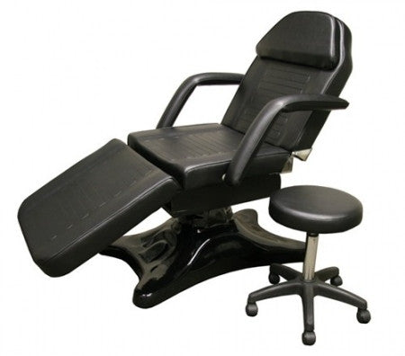 Black Hydraulic Facial Chair with Salon Stool