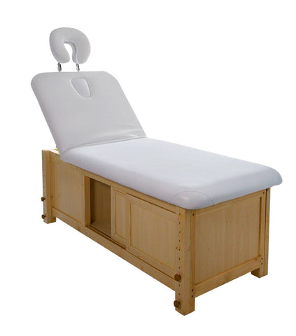 MASSAGE/FACIAL BED WITH STORAGE