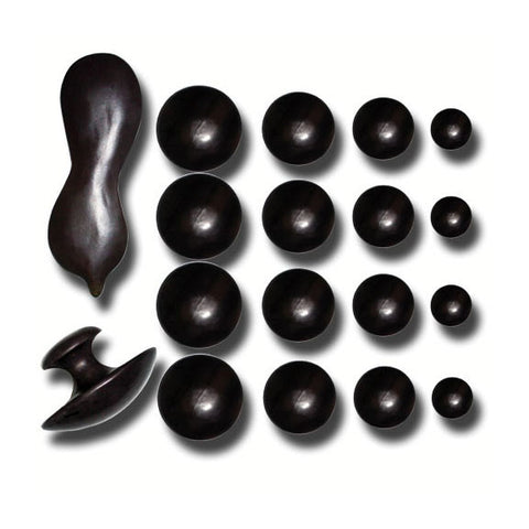 MASSAGE & HEALING THERAPY STONES 18 Pieces Kit - TopSpaSupply.com