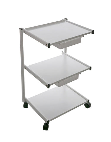 METAL CART, TROLLEY WITH PLASTIC DRAWERS