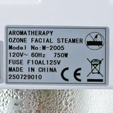 Ozone Facial Steamer with Movable Arm & Aromatherapy Basket