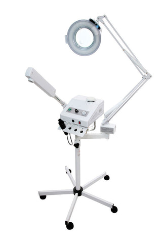 OZONE STEAMER / 5 DIOPTER MAGNIFYING LAMP & HIGH FREQUENCY