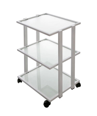SPA & SALON GLASS CART/ TROLLEY WITH 3 SHELVES - TopSpaSupply.com