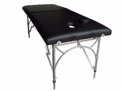 Black Portable Aluminum Massage Table