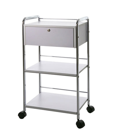 Rolling Salon Cart w/ Single Lockable Drawer
