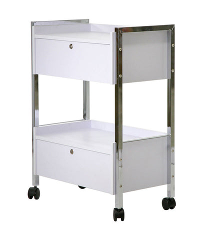 SALON SPA CART WITH DOUBLE LOCKABLE DRAWERS--HEAVY DUTY - TopSpaSupply.com
