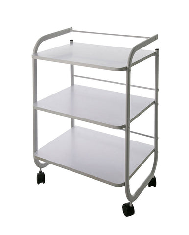 Rolling Spa Trolley w/ 3 Wooden Shelves