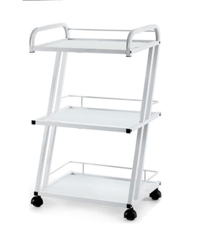 THREE LEVEL WOODEN TROLLEY - TopSpaSupply.com