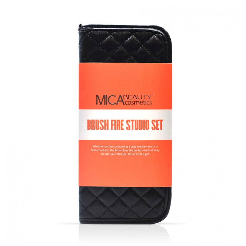 MicaBeauty - Blazing Peach Makeup Brush Fire Studio Set