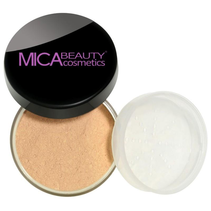 Kabuki Makeup Kit Honey Mineral Foundation Powder