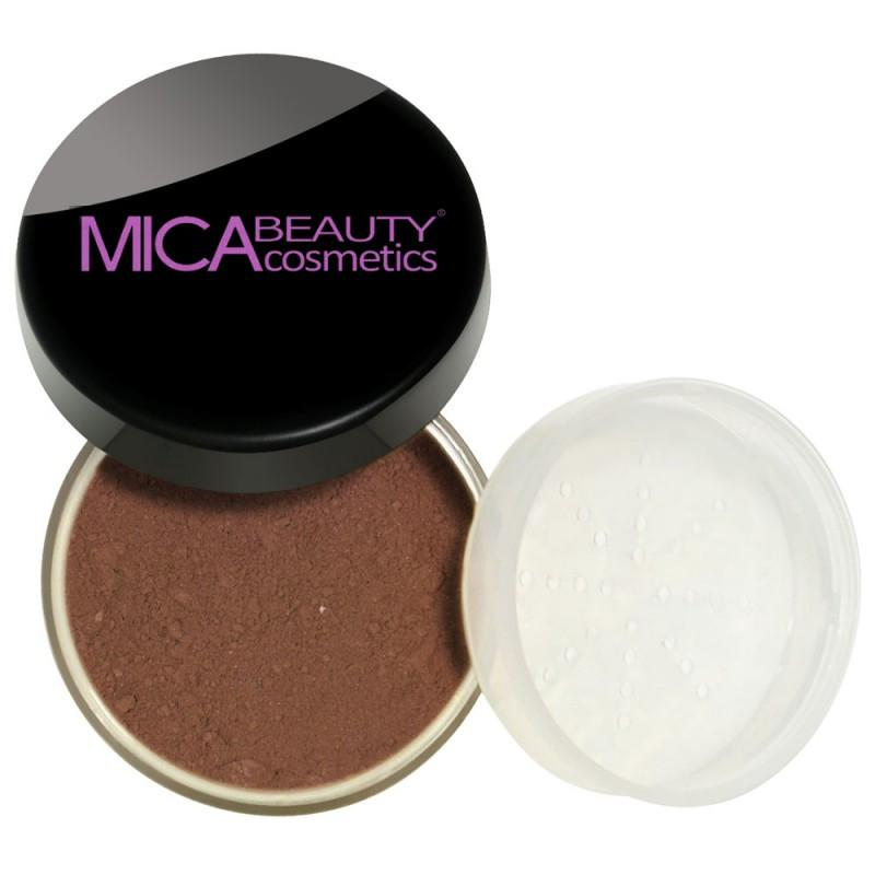 Kabuki Makeup Kit Chocolate Kisses Mineral Foundation Powder
