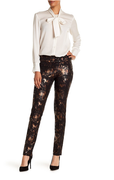 Scuba Straight Leg Copper Granite Pattern Pant