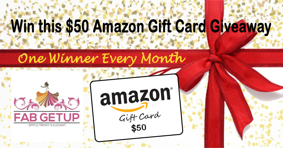 Amazon Giftcard Giveaway by Fab Getup Shop