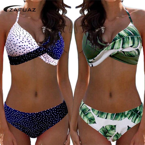 Bikini Push Up Swimwear Women Swimsuit Plus Size Swimwear Patchwork Shorts Two-Pieces Swimming Bathing Suits Tankini