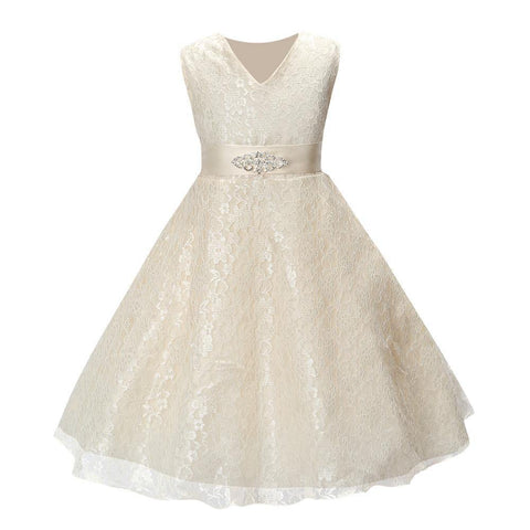 SQ253 Girls party wear clothing for children summer sleeveless lace princess wedding dress girls teenage well party prom dress
