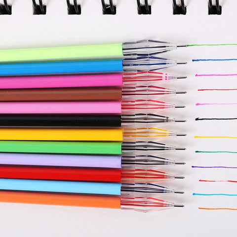 12 Pcs Diamond Head Refill Creative Stationery Candy Color Roller Ball Gel Pen Refill The Core 0.38mm Office School Supplies
