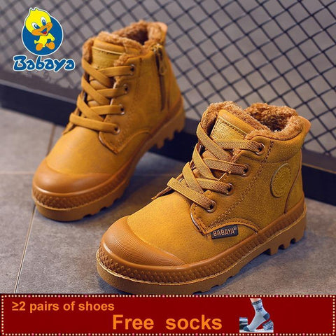 Boots kid Sneaker High Leather  Boots For Boy