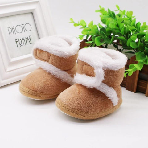 Newborn Toddler Boots Winter First Walkers baby Girls Boys Shoes Soft Sole Fur Snow Booties for 0-18M