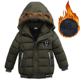 Jacket For Boys Children Jacket Kids Hooded Warm Outerwear Coat For Boy