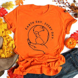 Earth Day Every Day Graphic Tees Women Protect Mother Earth Slogan Shirts No Planet B Streetwear T-shirt Cotton Tops Drop Ship