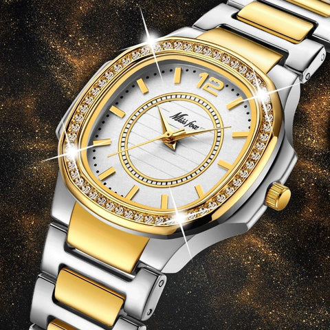 Geneva Designer Ladies Watch Luxury Brand Diamond Quartz Gold Wrist Watch Gifts For Women