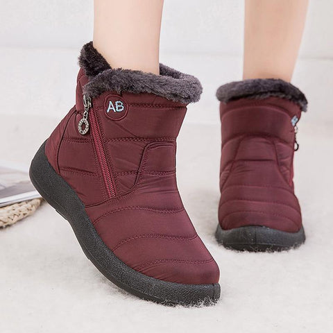 Women  Waterproof Snow Boots For Winter