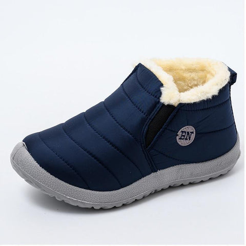 Boots Ultralight Winter Shoes Women Ankle  Snow Boots Female Slip On Flat Casual Shoes Plush Footwear