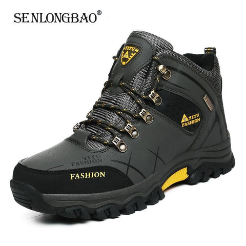 Men Winter Snow Boots Waterproof Leather Sneakers Super  Warm