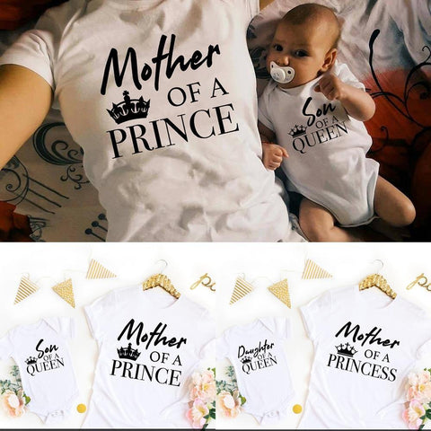 Mother Daughter Son matching t-shirts cute outfit family match