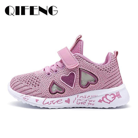 Girl Sneakers Kids summer Sport Footwear Kids Shoes for Girl Light Shoes Cute Pink Flat Shoes autumn