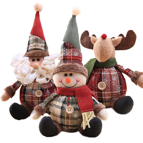 Snowman Doll Merry Chirstmas Decor for Home Table