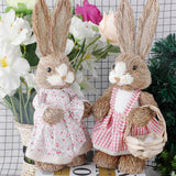 Easter Decoration Simulation Easter Cute Rabbit Ornament Home Festival Party Window Decorations Photography Props 2020