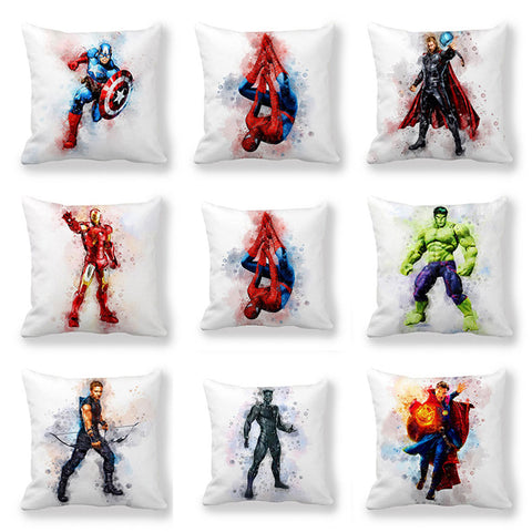 Disney Cartoon Marvel Heroes Boys Cushion Cover Pillowcase Pillow Cover Captain Iron Man 45x45cm
