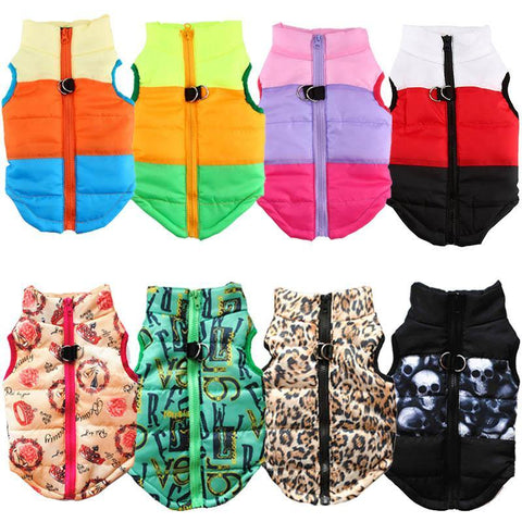 Warm Dog Clothes Windproof Pet Dog Coat Jacket Puppy Clothes Padded Vest Dog Clothing Winter Pet Supplies Ropa de Cachorro 4