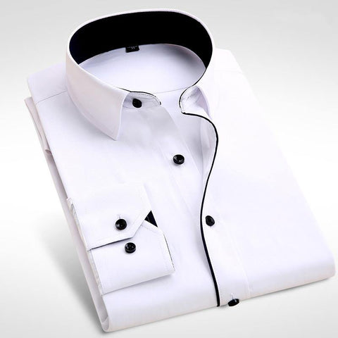 Brand  Men Shirt Male Dress Shirts Men's Fashion Casual Long Sleeve Business Formal Shirt camisa social masculina