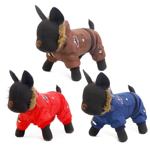 Small Large Dog Warm Clothes Winter Clothing Pet Dog Jumpsuit Warm Big Dog Track Suit Puppy Hooded Jacket Coat Product XS-5XL