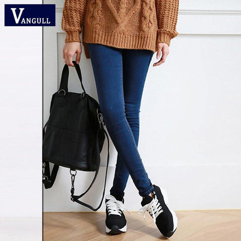Skinny Jeans Woman Autumn  Pencil Jeans For Women Fashion Slim  Ankle-Length Jeans Women's Printed Denim Pants