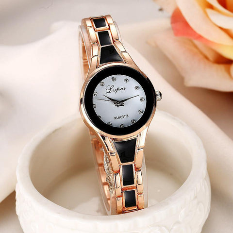 Brand Women Watches Alloy Crystal Wristwatches Women Dress Watches Gift Women Gold Fashion Luxury Quartz Watch