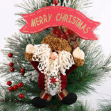 New Merry Christmas Door Hangings Santa Claus Reindeer Design Xmas Tree Home Decoration -PD