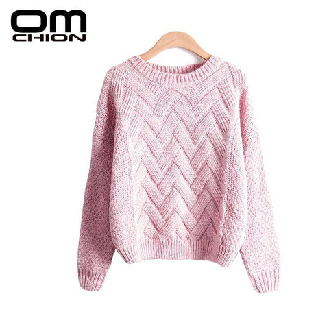 Pull Femme  Autumn Winter Women Sweaters And Pullovers Plaid Thick Knitting Mohair Sweater Female Loose Variegated LMY12